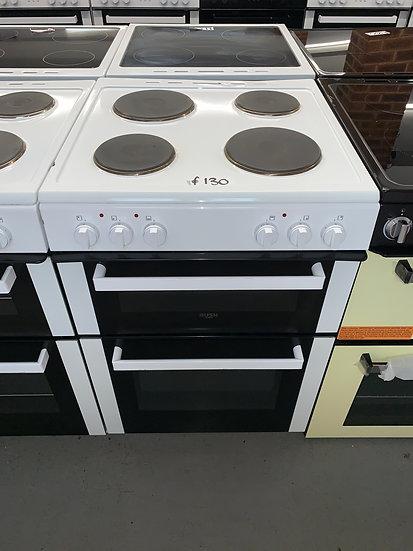 Bush DHBET60W 60cm Twin Cavity Electric Cooker - White *GRADED*