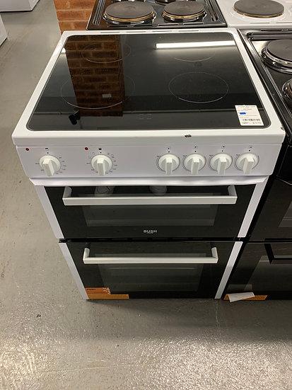 (618) Bush 60cm Electric Cooker B60TCWX