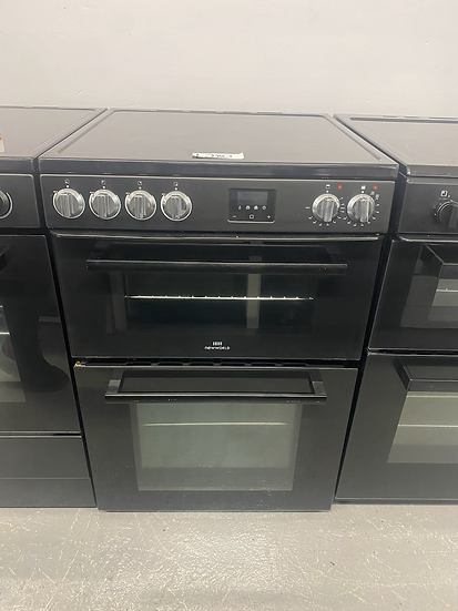 New World NWLS60TEB 60cm Twin Electric Cooker - Black *GRADED*