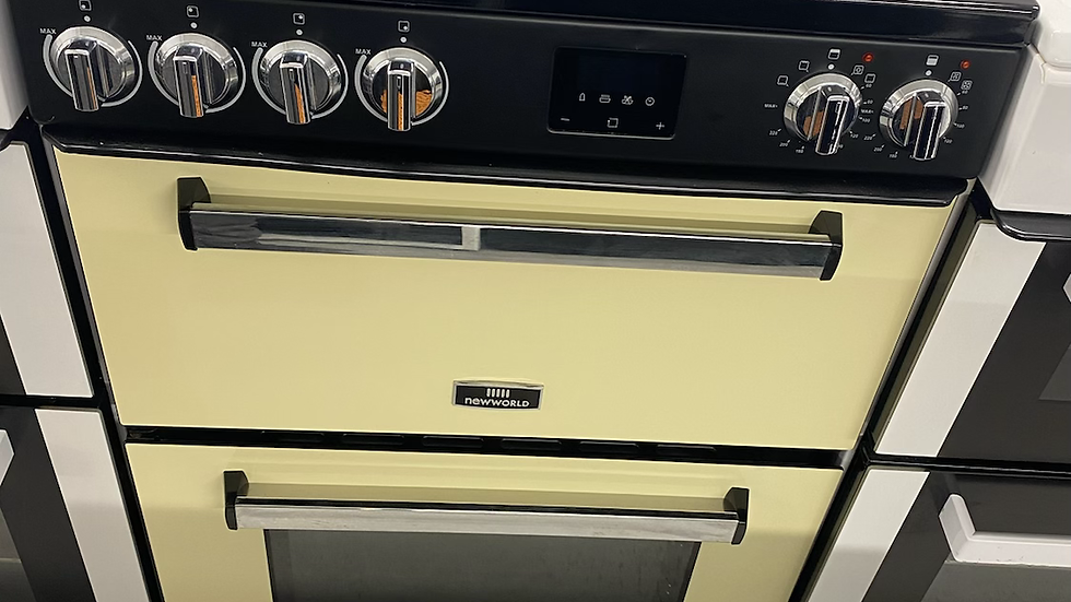 (042) New World Nevis NWNV60CC 60cm Electric Cooker - Cream