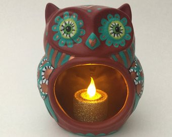OWL LED candle holder