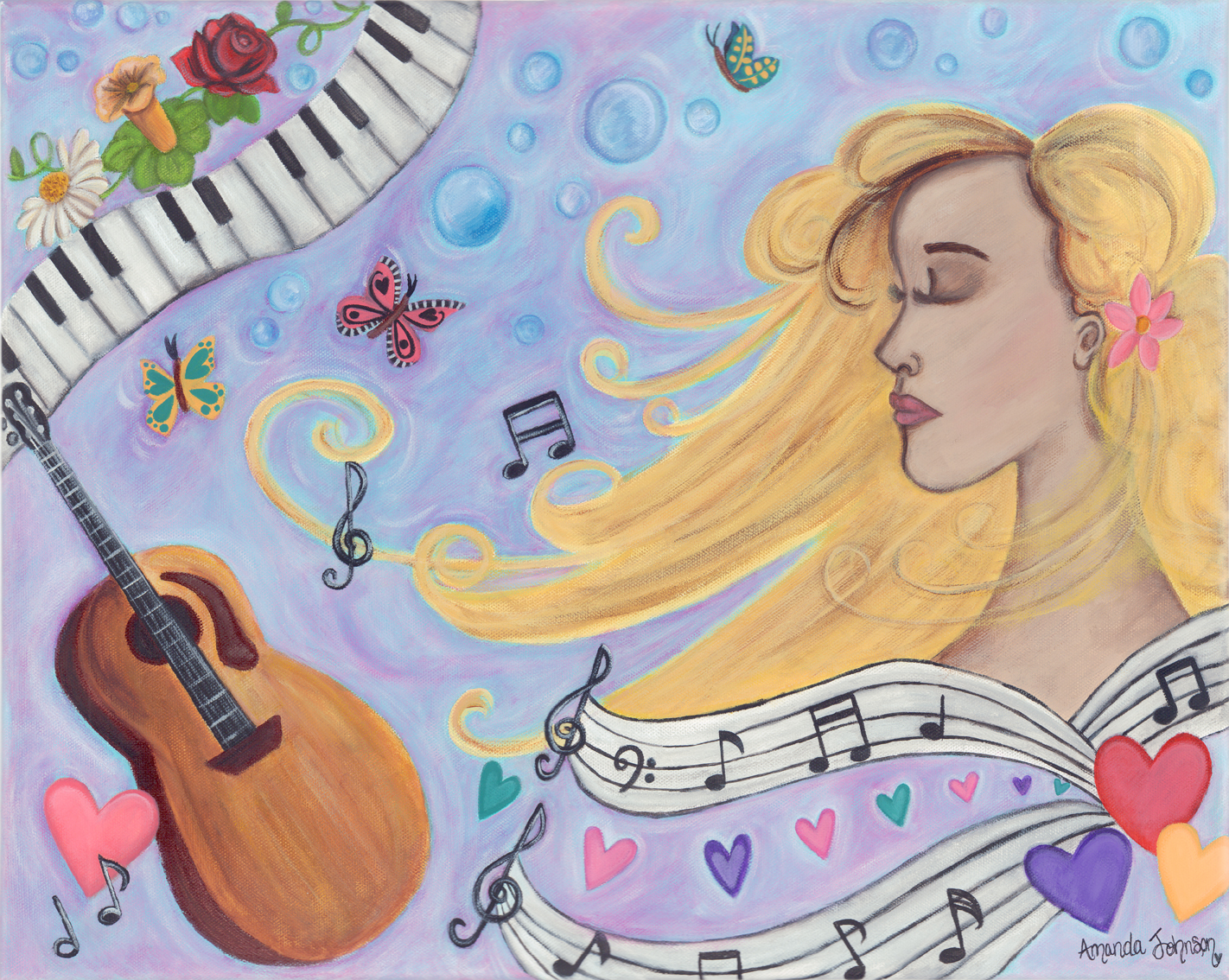 She Dreams in Music