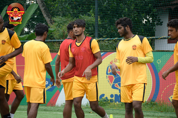 Gokulam Kerala FC team Durand Cup 2019 Training session @ Ginga