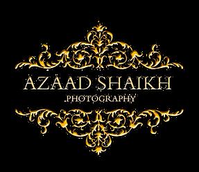 Wedding Logo Azaad Shaikh Golden.png