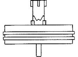 Auflageteller links (kurze Achse) - für Bandtransport Rücklauf