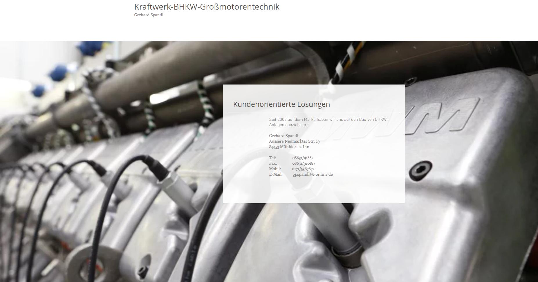 Spandl - Kraftwerk-BHKW-Großmotorent