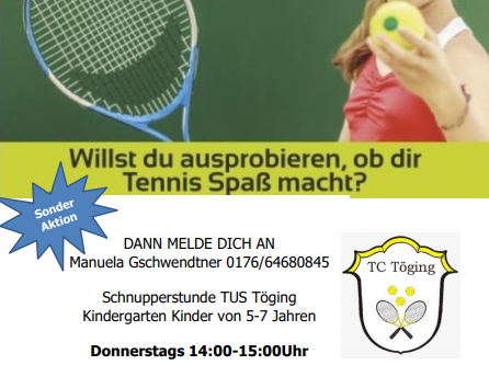 TC Kinder Schnupper-Tennis