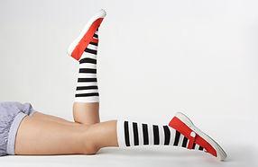 Gestrippt Socken Schuhe
