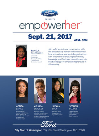 EmpowerHer Panelist, Congressional Black Caucus - Washington D.C. September 21st, 2017