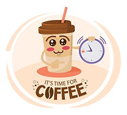 funny-cartoon-character-coffee-cup-pointing-time-free-coffee-discount-concept-funny-cartoo