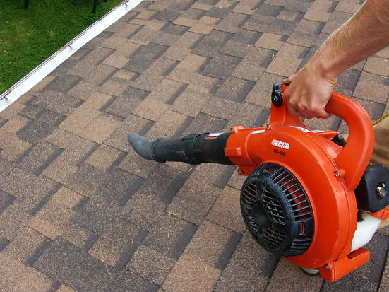 roof cleaning debris