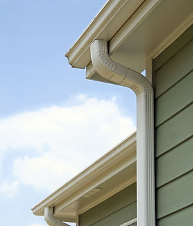 installed downspout