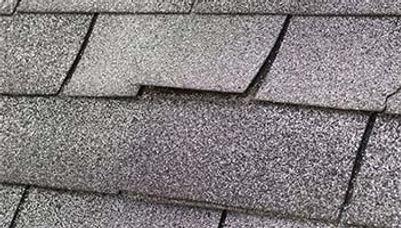 wind damaged shingles