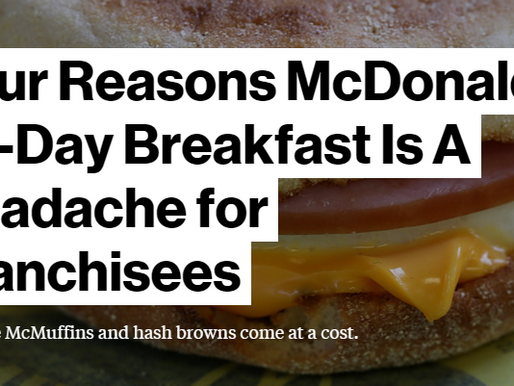 Four Reasons McDonald's All-Day Breakfast Is A Headache for Franchisees