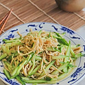涼拌金針菇: Enoki Mushroom Salad