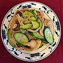 豪菇黃瓜: Fresh Cucumber Salad w/ Oyster Mushroom