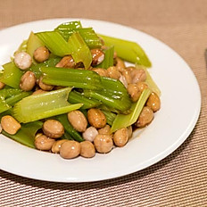 西芹花生: Boiled Peanut with Celery