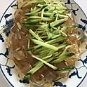 涼拌粉皮: Chilled Wide Bean Noodle