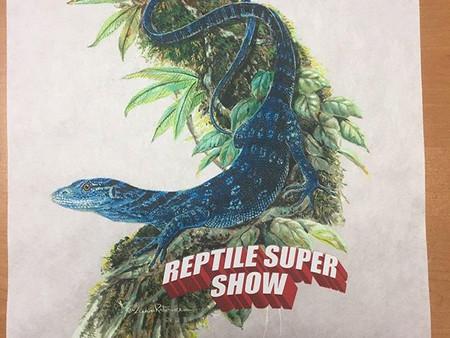 Gamini donates Blue Monitor Lizard at Reptile Super Show