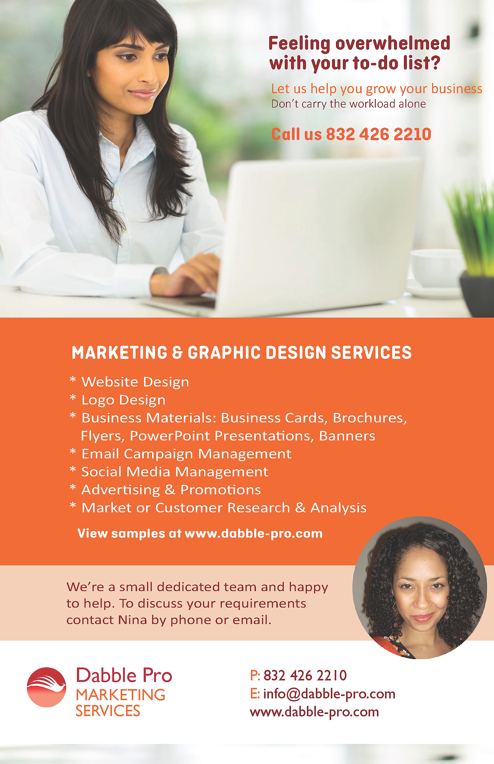 dabble pro marketing services virtual marketing assistant flyer dabble pro marketing services virtual marketing assistant flyer