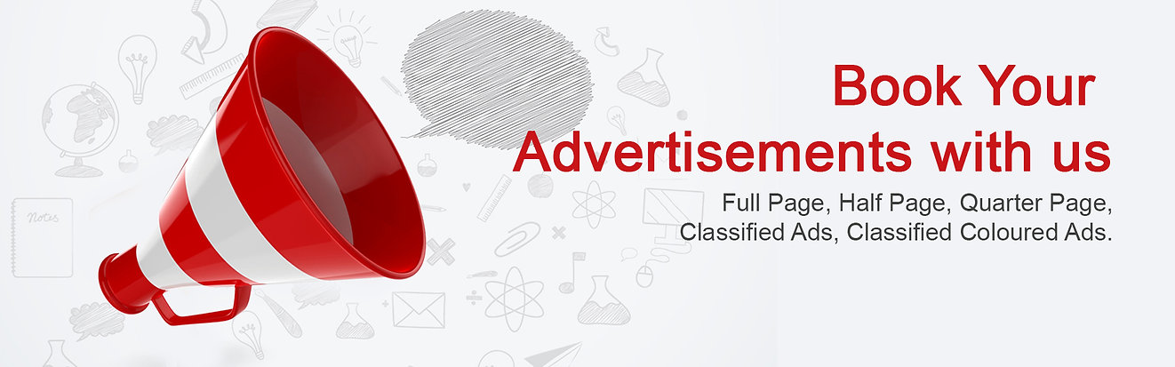 Book your advertisement with us