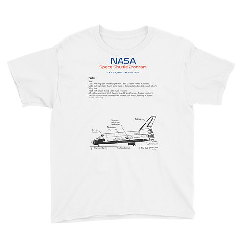 Youth Short Sleeve Space Shuttle T-Shirt