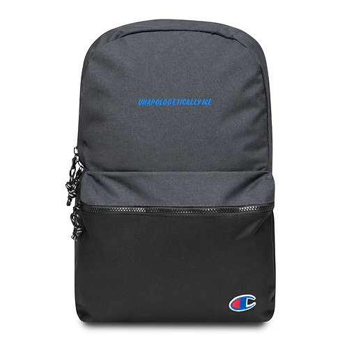 """Unapologetically me"" Embroidered Champion Backpack"