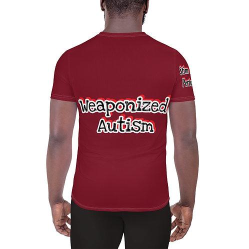 """""""Weaponized Autism"""" Men's Athletic T-shirt"""
