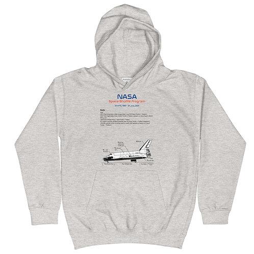 Kids Space Shuttle Hoodie