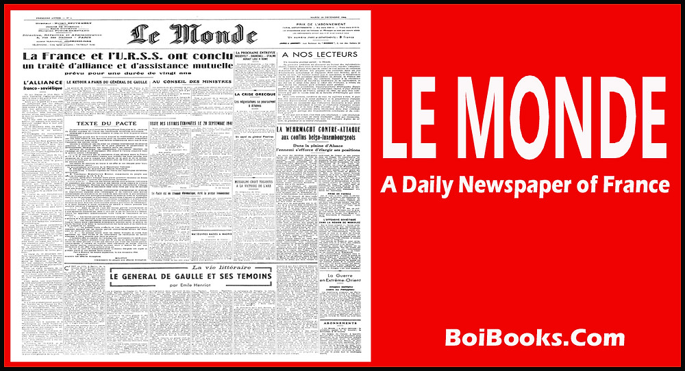 Le Monde is a leading newspaper of France