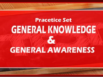 জেনারেল অ্যাওয়ারনেস প্র্যাকটিস সেট - SSC, RRBs, PSC   GK Questions   BBPS001