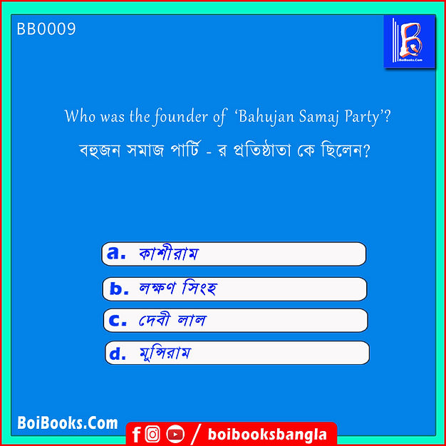 Who was the founder of 'Bahujan Samaj Party'? Bahujan Samaj Party was founded by