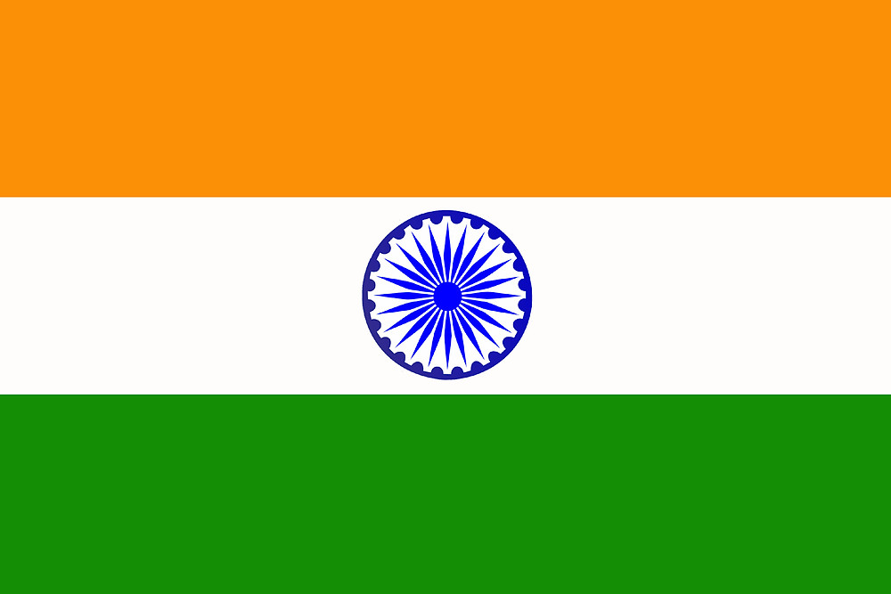 Format of the flag is 2:3, Indian National Flag is a horizontal tricolor of deep saffron at the top, white in the middle and dark green at the bottom in equal proportion. In the middle of the white band there is a nevy-blue wheel. It's design is that of the wheel which appears on the abacus of the Lion Capital of Ashoka.