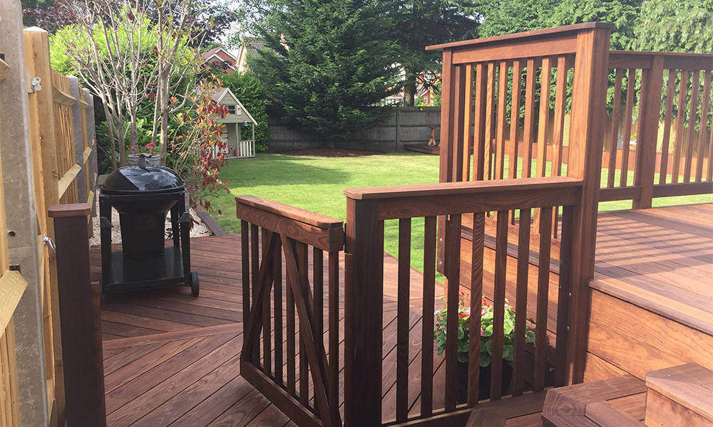 ThermoWood Ash Balustrade and Stair Gate