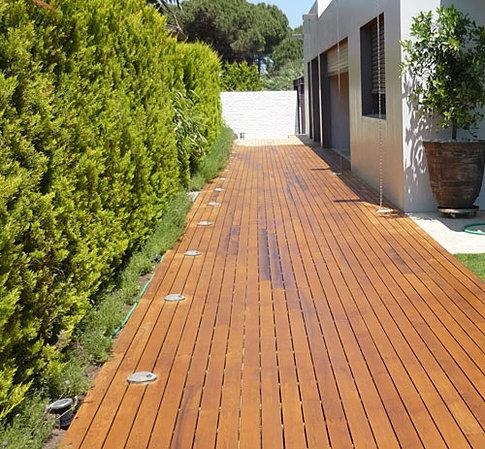 Qtd ltd thermowood iroko hardwood decking for 2 4 metre decking boards
