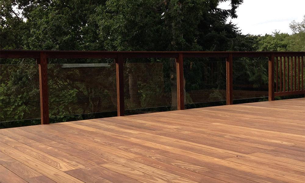 ThermoWood Ash and Glass Balustrade Panels