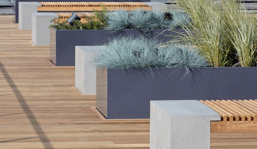 Planters and Benches ThermoWood Ash