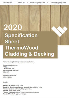 ThermoWood Specification Sheet