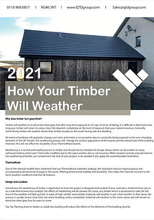 How Your Timber Will Weather