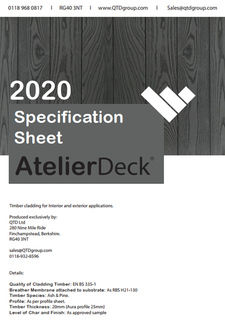 AtelierDeck Specification Sheet