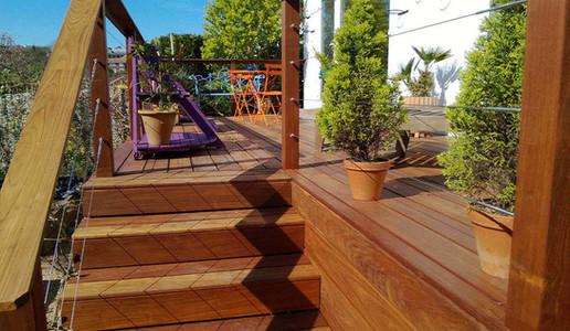 Ipe Tropical Hardwood Decking Steps