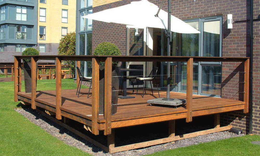 Commercial Balustrade ThermoWood Ash