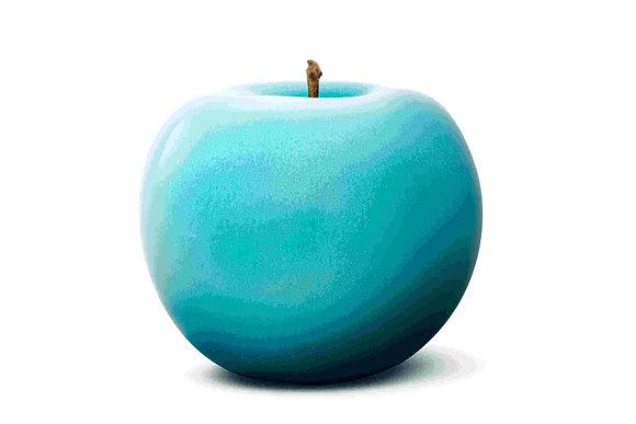 Brilliant Glazed Turquois Apple