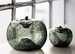 Transparent Glass Apple Sculpture
