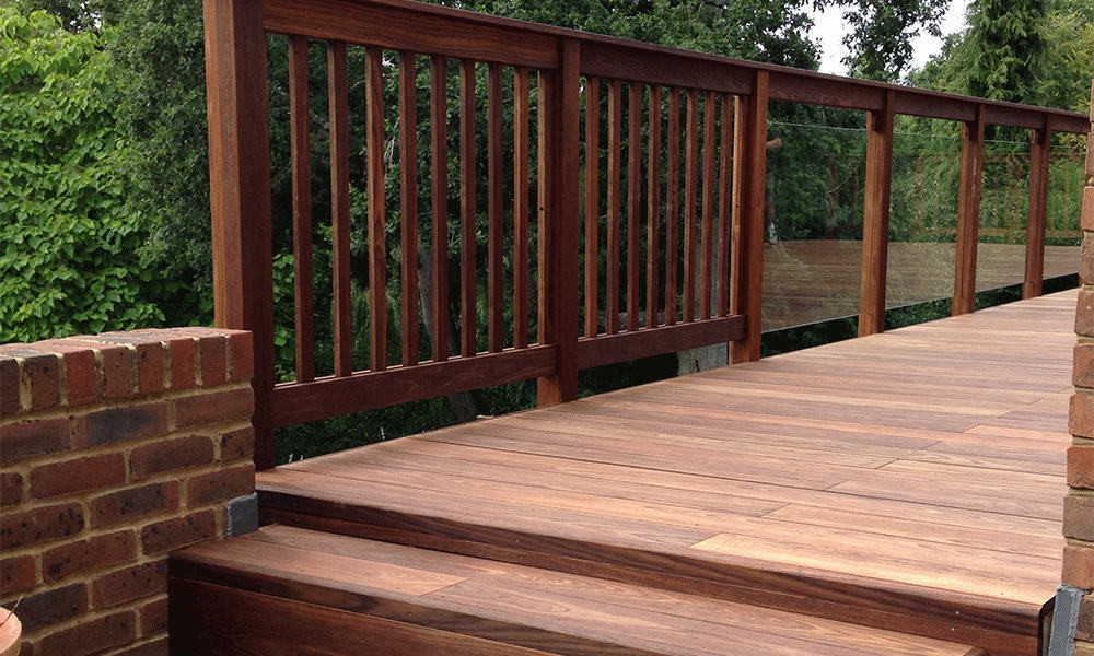 Elevated Decking ThermoWood Ash Balustrade