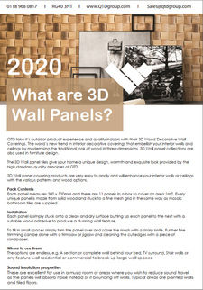 What are 3D Wall Panels
