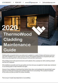 ThermoWood Cladding Maintenance Guide