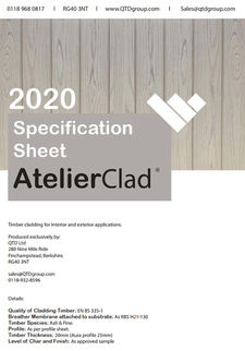 AtelierClad Specification Sheet