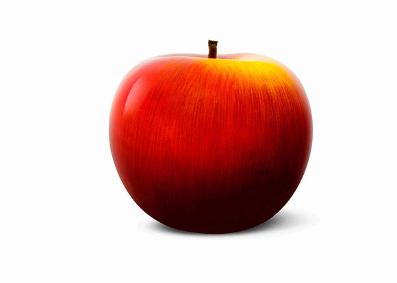 Brilliant Glazed Red and Yellow Apple