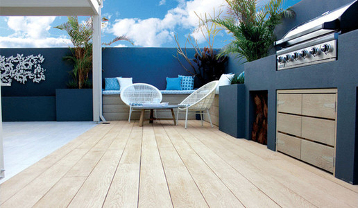 Golden Oak Millboard Decking Seating Area Residential